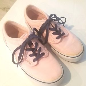 VANS Kids Pink and Navy Off The Wall Shoes